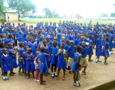 I bambini della Primary School di Kwama 1